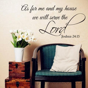 As for me and my house we will serve the Lord - Two Little Giggles