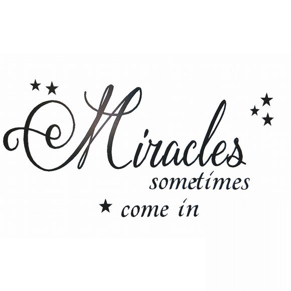 Miracles sometimes happens