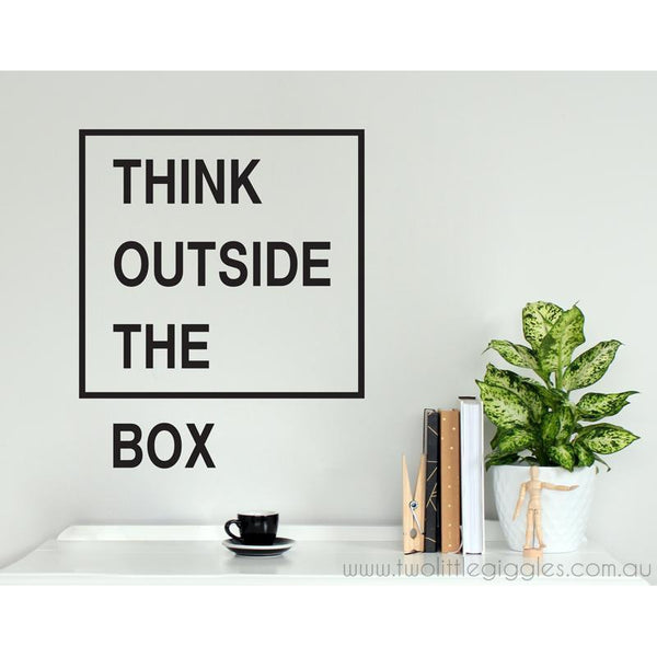 Think outside the box - Two Little Giggles