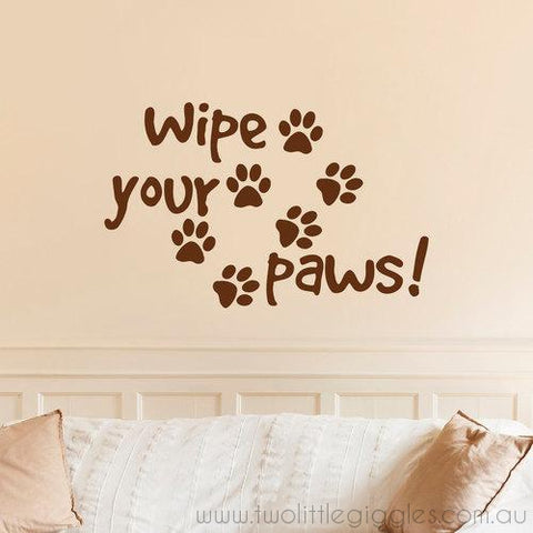 Wipe your paws - Two Little Giggles