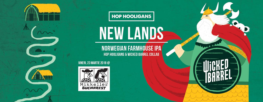 New Lands. Norwegian Farmhouse IPA.