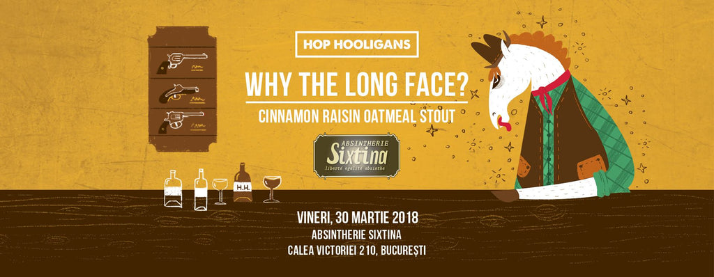 Why The Long Face? Cinnamon Raisin Oatmeal Stout