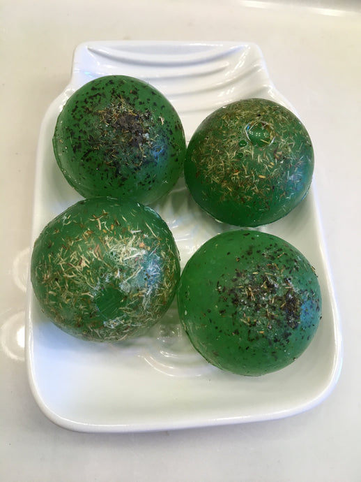 Green Tea & Lemongrass Loofa Soap Spheres