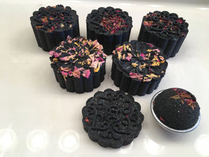 Charcoal Rose Bath Bombs