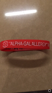 Alpha Gal Allergy Medical Alert band for men women and children silicone base soft comfortable