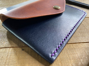 Buffalo Wallet ~ English Tan/ Navy