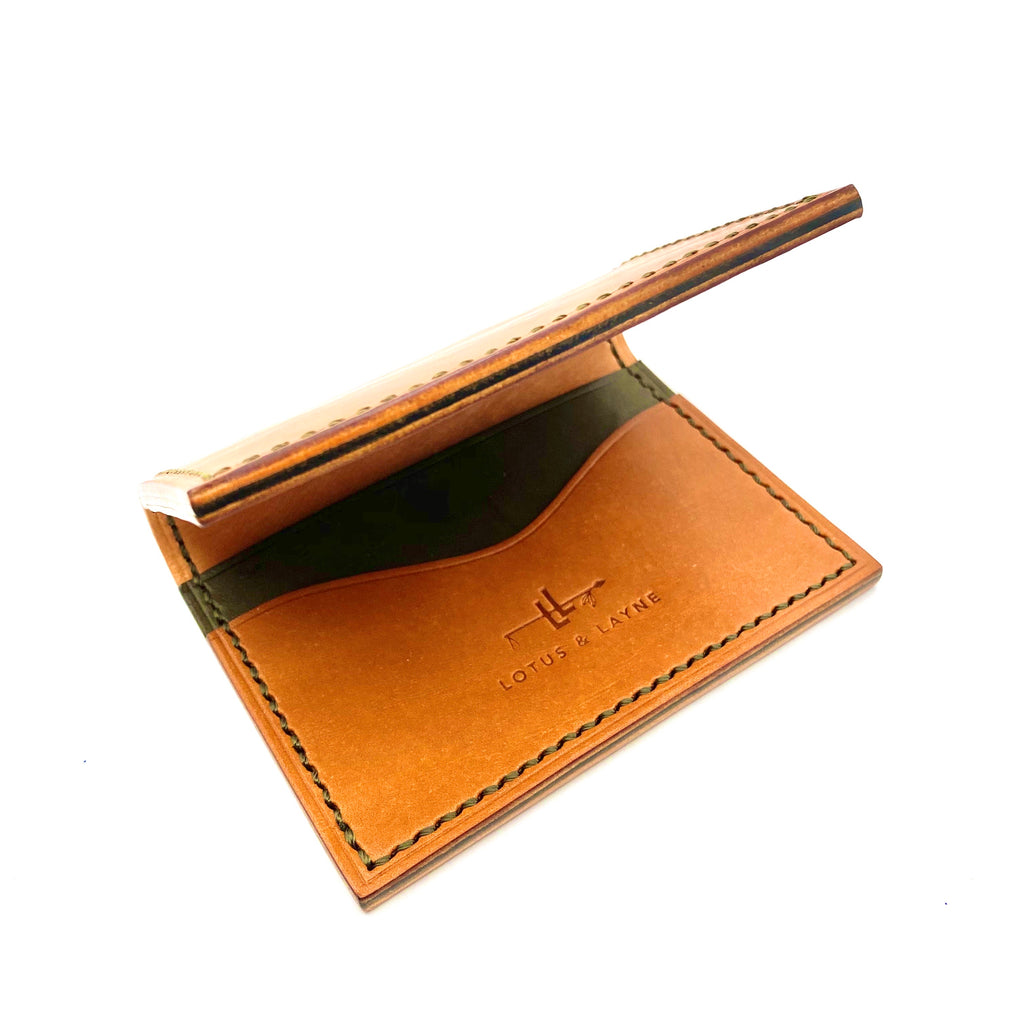 Bifold Wallet ~ Buck Brown/ Olive