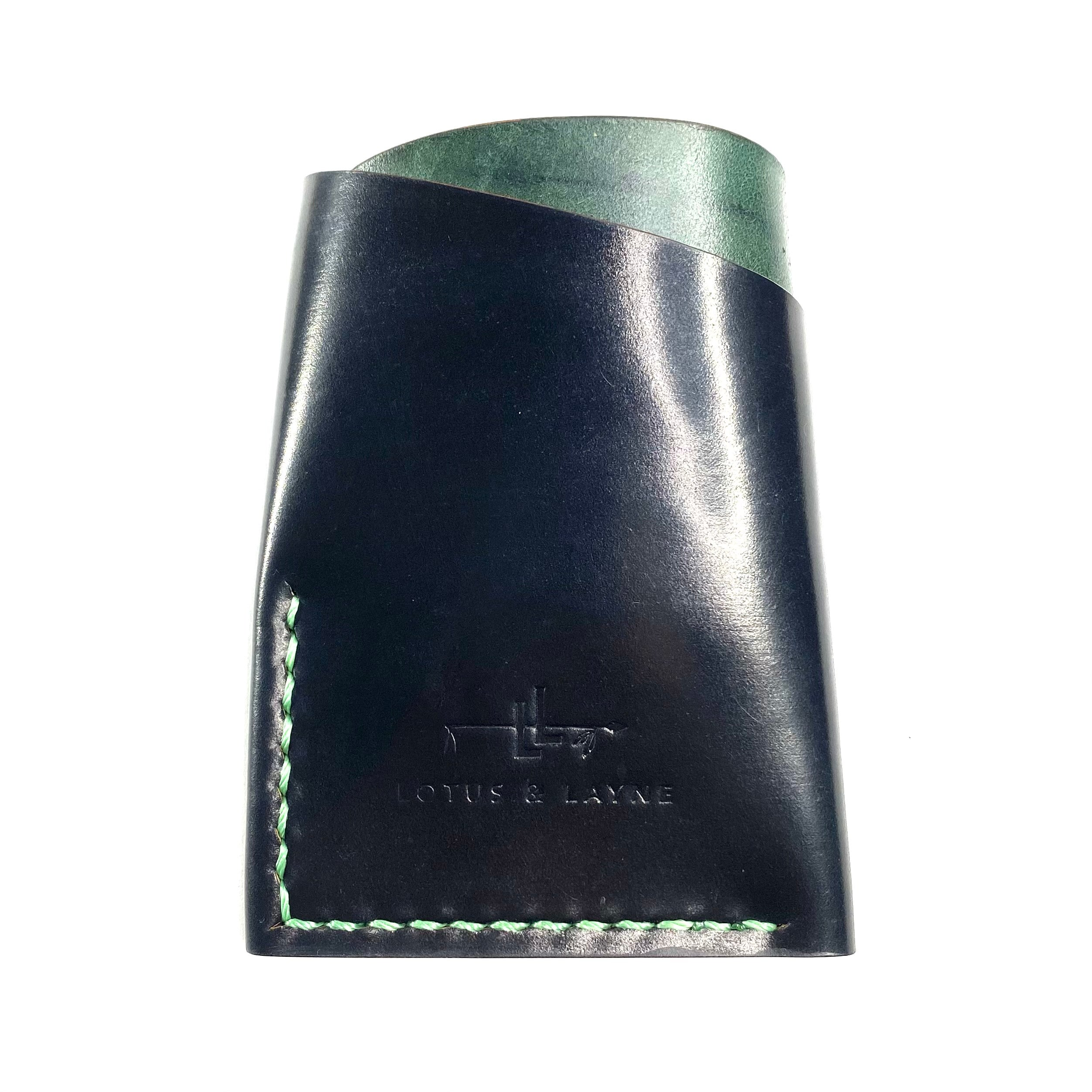 Canyon Wallet ~ Black Shell Cordovan