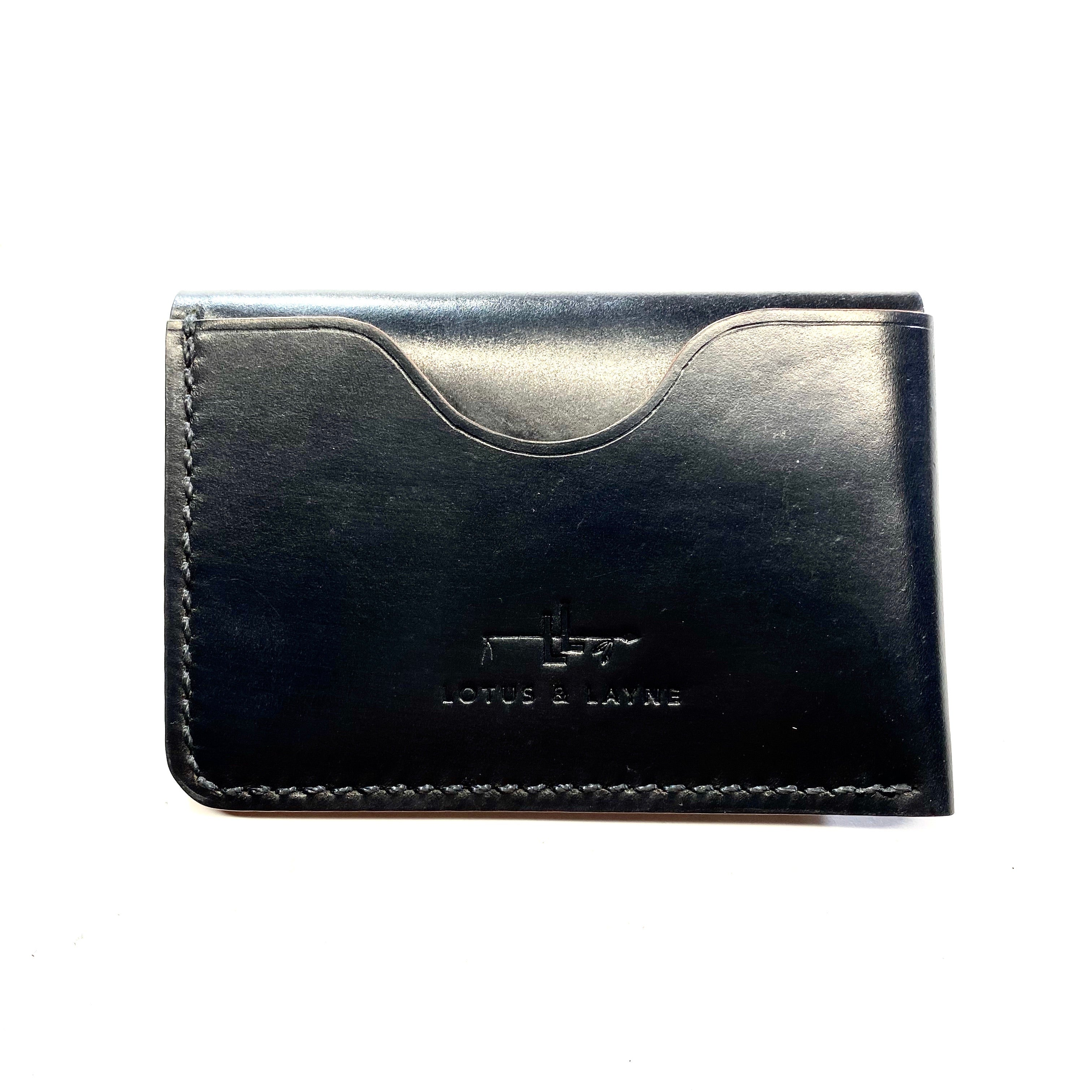 Buffalo Wallet ~ Black Shell Cordovan