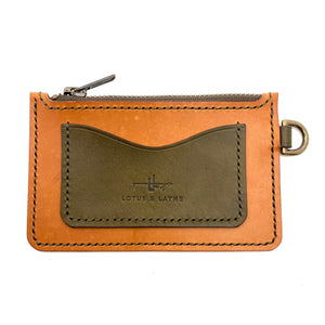 Zipper Wallet ~ Buck Brown/ Olive