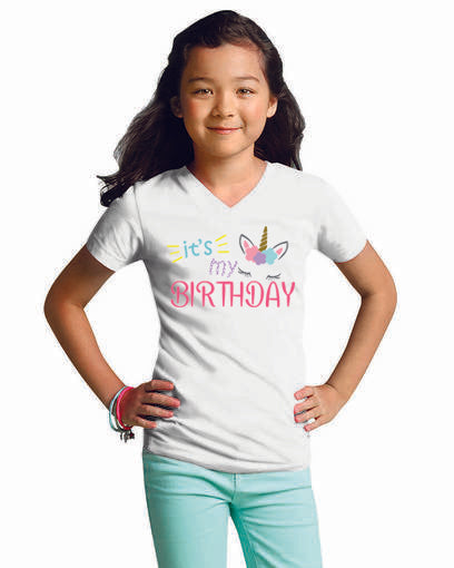 Its My Birthday Unicorn Kids Shirt