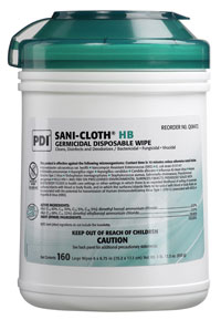 Sani-Cloth HB Germicidal Wipe