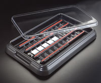 Slide Staining Tray Clear Lid