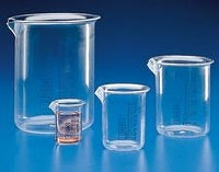 Beaker PMP Clear Blue Grad 250mL
