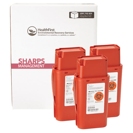 1 Quart 3 Pack Sharps Mgmt