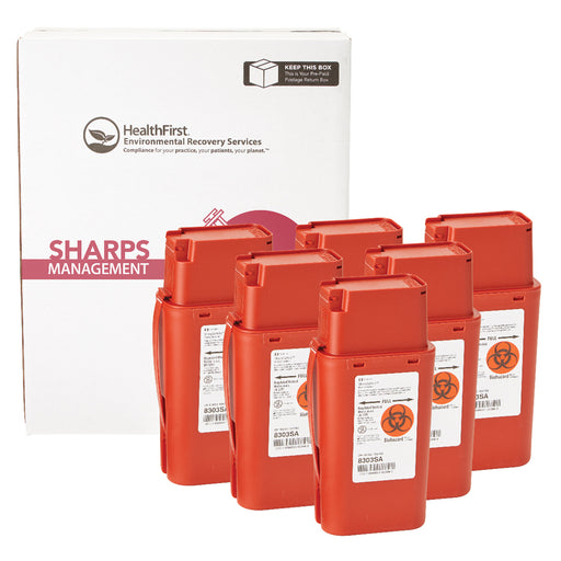 1 Quart 6 Pack Sharps Mgmt
