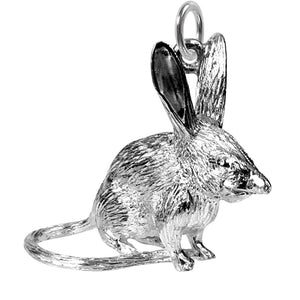 Australian Bilby Charm Sterling Silver Front