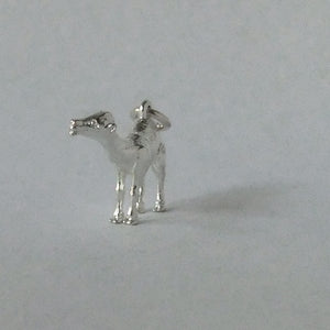 Dromedary Camel charm sterling silver or gold pendant