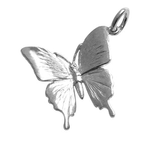 Ulysses Butterfly Charm Pendant in Sterling Silver or Gold