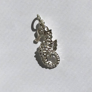 Seahorse Charm Sterling Silver Ocean Pendant