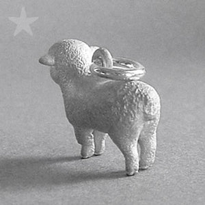 Sheep Charm Pendant Sterling Silver or Gold