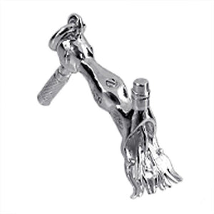 Moving Sheep Shears Charm in Sterling Silver or Gold