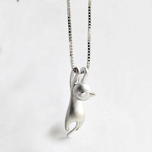 Cat Climbing Necklace