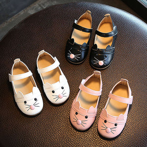 Baby Girl Cat Design Shoes