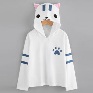 Womens Cat Ear Cute Hoodie