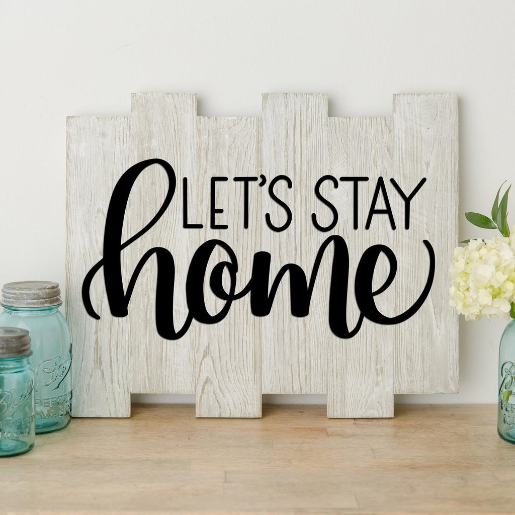 let's stay home sign svg