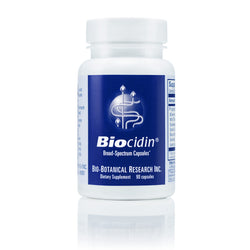 Biocidin® Capsules. Potent Broad-Spectrum Botanical Combination. Targets the entire GI tract for a healthy and balanced Intestinal Ecology. Bio-Botanical Research