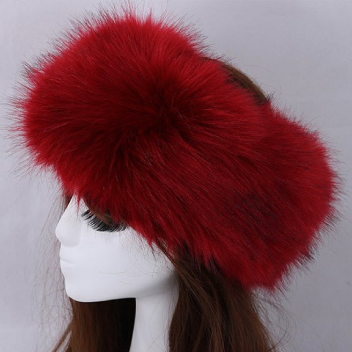 Classic Hollywood Faux Fur Headband