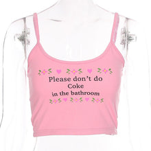 Please No Drugs Cropped Tank