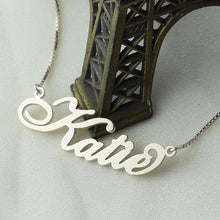 Cali Cursive Custom Necklace (Box Link)