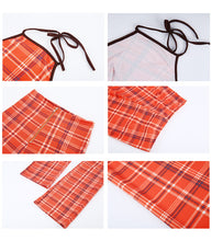 'Miss Popular' Plaid Halter Top Set