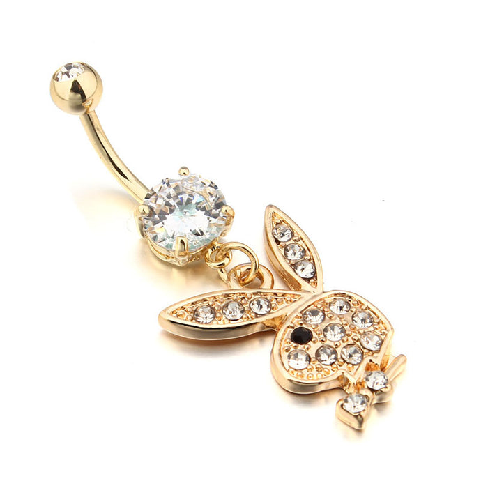 Icy Bunny Navel Ring