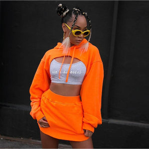 Retro Crop Sweater Set