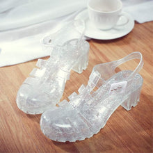 *LIMITED* Retro Crystal Jelly Sandals