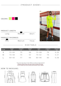 Go-Mode Neon Utility Playsuit