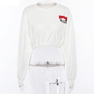 'Melrose' Cropped Sweatshirt