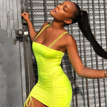 Neon Double Cinch Mini Dress