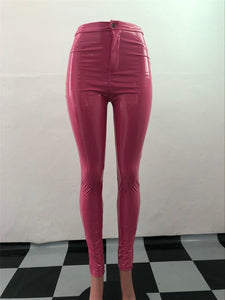 Danger! High Voltage Latex Leggings