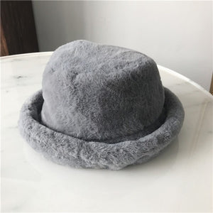 Foxy Faux Fur Bucket Hat