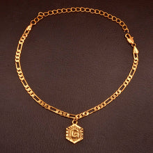 Gold Initial Pendant Anklet
