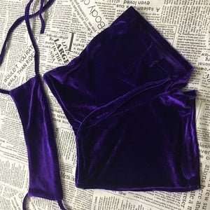 Velvet Dreams Halter Set