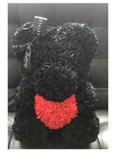 40CM ROSE BEAR FLOWER HEART