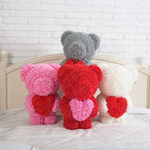 60cm Luxury Rose Bear With Heart Limited Edition
