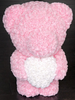 60CM ROSE BEAR WITH HEART