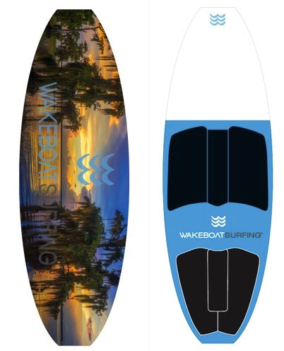 WakeBoatSurfing Signature Edition Cyprus Tree LED Board!