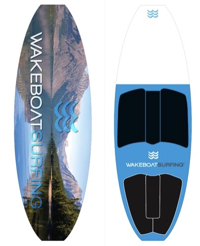 WakeBoatSurfing Signature Edition Mountain Lake LED Board!